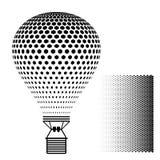 Silhouette chaude de noir de ballon à air Photographie stock