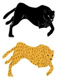Silhouette cheetah Royalty Free Stock Photography
