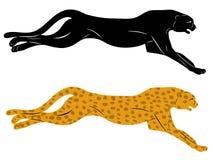 Silhouette cheetah Royalty Free Stock Image