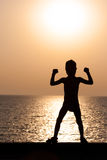 Silhouette of a child Royalty Free Stock Photography