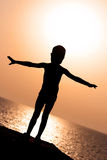 Silhouette of a child Stock Photography