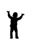 Silhouette of a child Stock Images