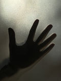 Silhouette of a child's hand. Royalty Free Stock Photography