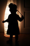 Silhouette of child Stock Photo