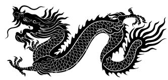 Chinese Dragon Silhouette Royalty Free Stock Photography ...