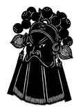 Silhouette of Chinese opera masks Royalty Free Stock Images