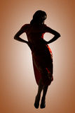 Silhouette of Chinese woman Royalty Free Stock Photography