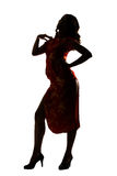 Silhouette of Chinese woman Royalty Free Stock Photos