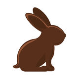 Silhouette of chocolate rabbit with long ears Royalty Free Stock Photography