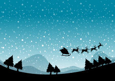 Silhouette Christmas Royalty Free Stock Photo