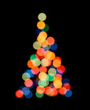 Silhouette of Christmas tree Royalty Free Stock Photos