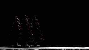 Silhouette of Christmas Tree Royalty Free Stock Photo