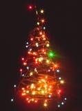 Silhouette of Christmas tree Stock Image