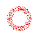 Silhouette Christmas wreath Royalty Free Stock Photos