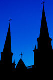 Silhouette Church of Christ Stock Photo