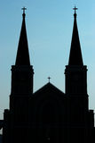Silhouette Church of Christ Royalty Free Stock Photo