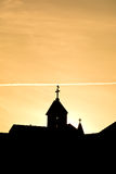 Silhouette of church towers Royalty Free Stock Images