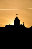 Silhouette of church towers Royalty Free Stock Photography