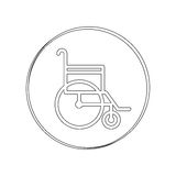 Silhouette circular contour sign wheelchair Stock Photo