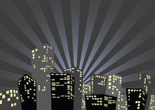 Silhouette of the city Royalty Free Stock Images