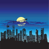 Silhouette of city Stock Image
