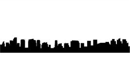 Silhouette of city with black color Stock Photography