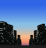 Silhouette City Royalty Free Stock Image
