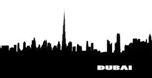 Silhouette of the city  Dubai Royalty Free Stock Photos