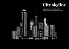The silhouette of the city in a flat style. Modern urban landscape. illustration Stock Image
