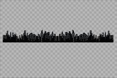 The silhouette of the city in a flat style. Modern urban landscape.vector illustration. Royalty Free Stock Image