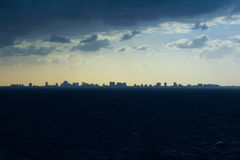Silhouette of city of Ft Lauderdale Stock Photos