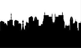 Silhouette of city heritage Stock Image