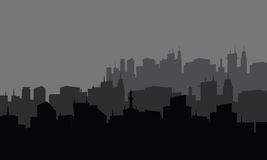 Silhouette of city in the highlands. Silhouette of the city in the highlands Royalty Free Stock Photography
