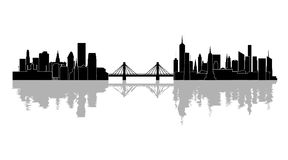 The silhouette of the city Stock Photos