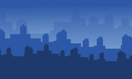 Silhouette of city landscape collection. Vector illustration Stock Photography