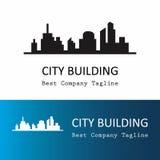 Silhouette of city logo Stock Photos