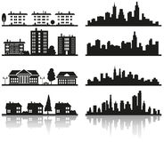 Silhouette of city Stock Photography