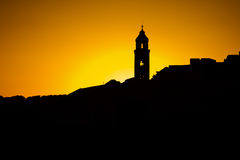 The silhouette of the city rooftops in Dubrovnik Stock Photo