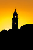 The silhouette of the city rooftops in Dubrovnik Stock Images
