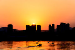 Silhouette of the city Stock Photography