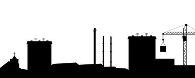 The silhouette of the city. Stock Photography