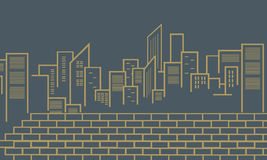 Silhouette of city vector outline Stock Images