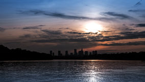 Silhouette of the city of Warsaw Royalty Free Stock Photos