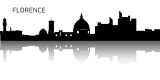 Cityscape of Florence. Silhouette of a cityscape of Florence, Vector illustration Royalty Free Stock Images