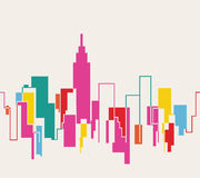 Silhouette cityscape illustration background Stock Photography