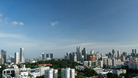 Silhouette Cityscape of Singapore Royalty Free Stock Photo