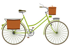 Green bicycle. Royalty Free Stock Photos