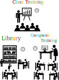 Silhouette classroom training Royalty Free Stock Images