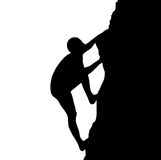 Silhouette of climber Royalty Free Stock Photography