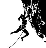 Silhouette of a climber Stock Image